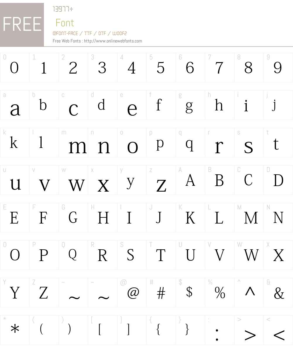 Adobe Fangsong Std R Font Screenshots