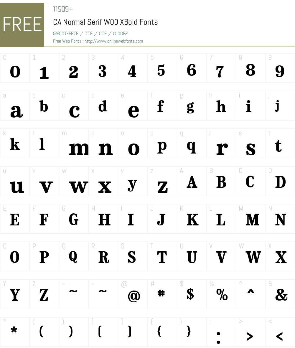 CANormalSerifW00-XBold Font Screenshots