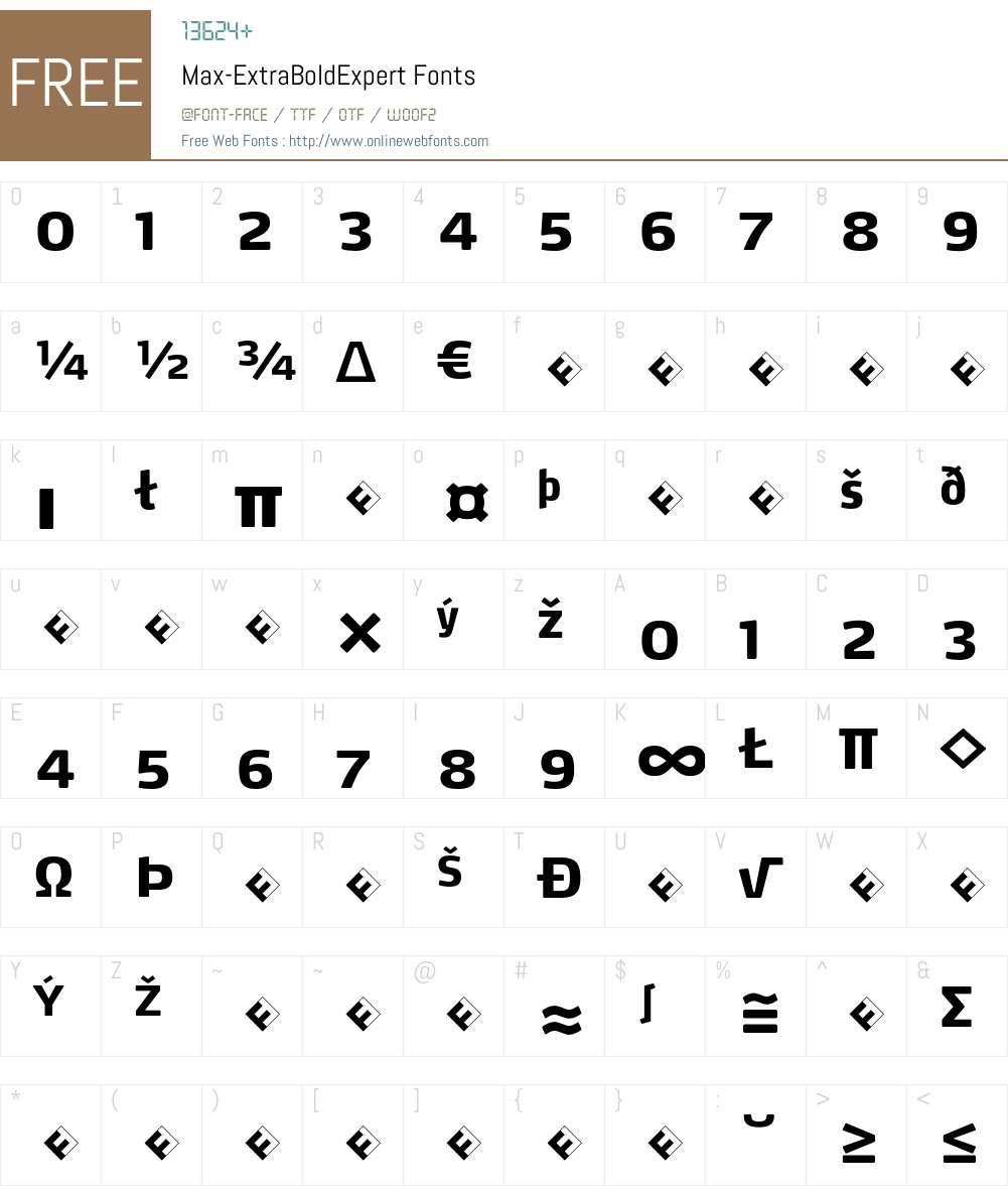 Max-ExtraBoldExpert Font Screenshots