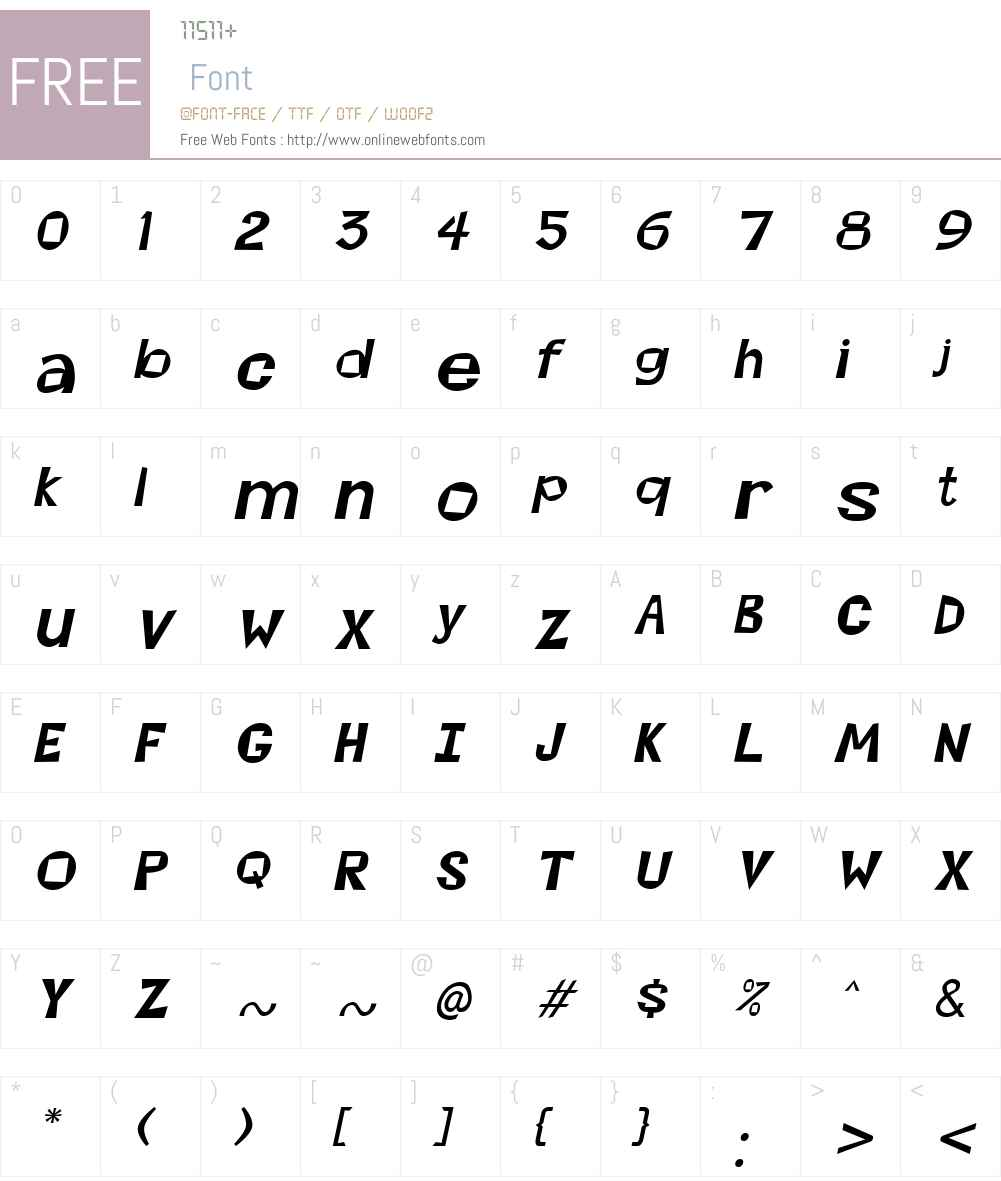 Magoo Font Screenshots