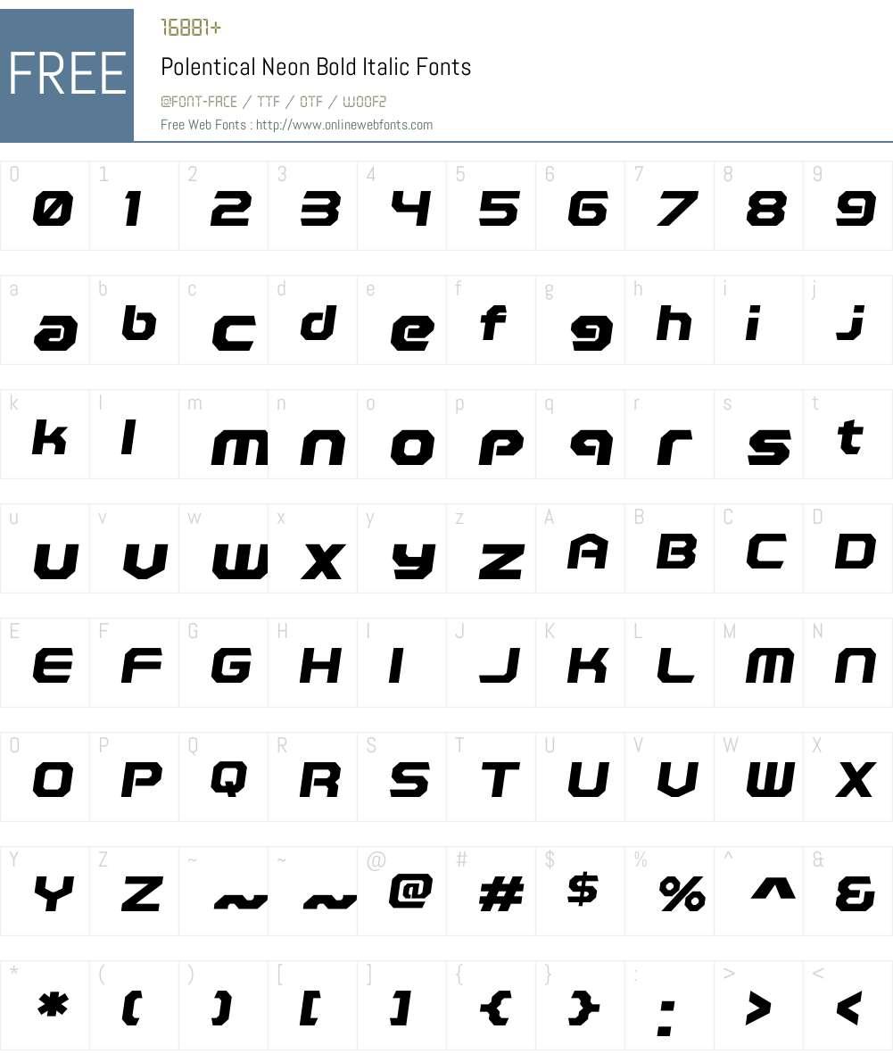 Polentical Neon Font Screenshots