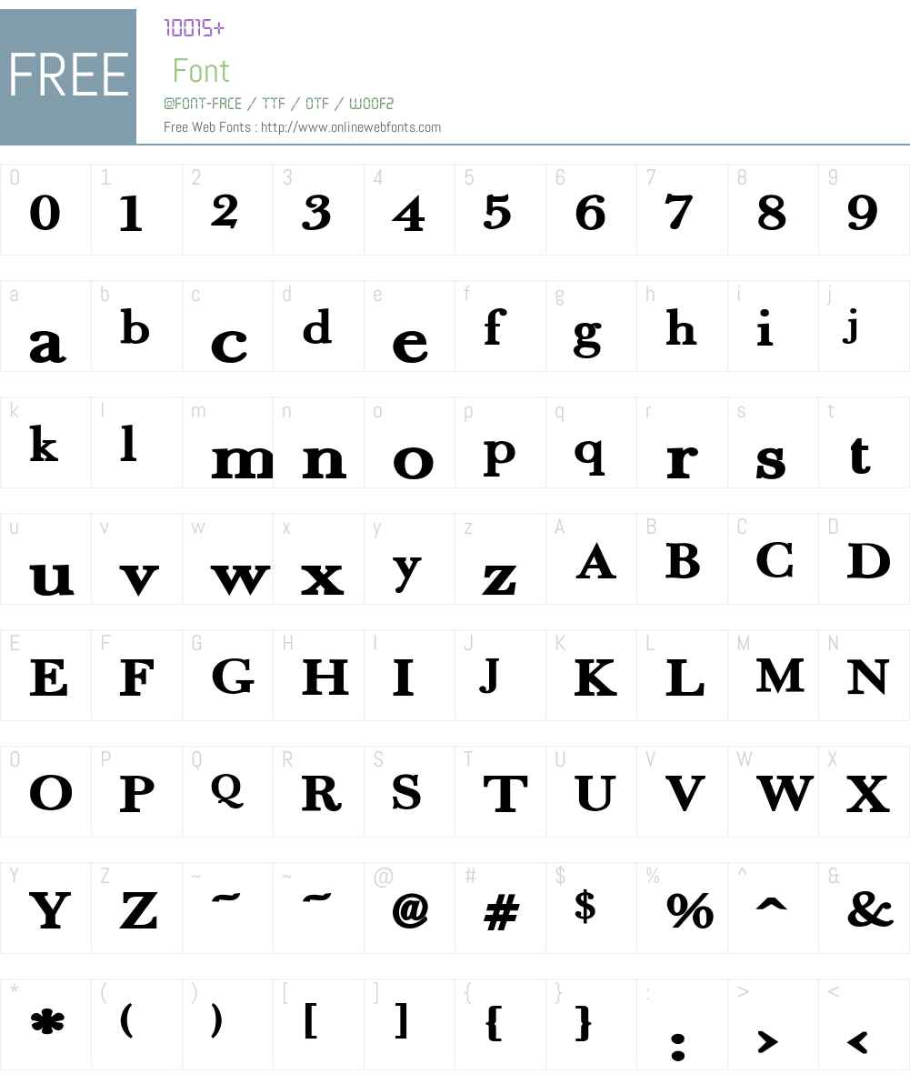 Fradley Extended Font Screenshots