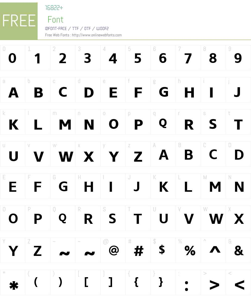 CoreSansNSCW01-65Bold Font Screenshots