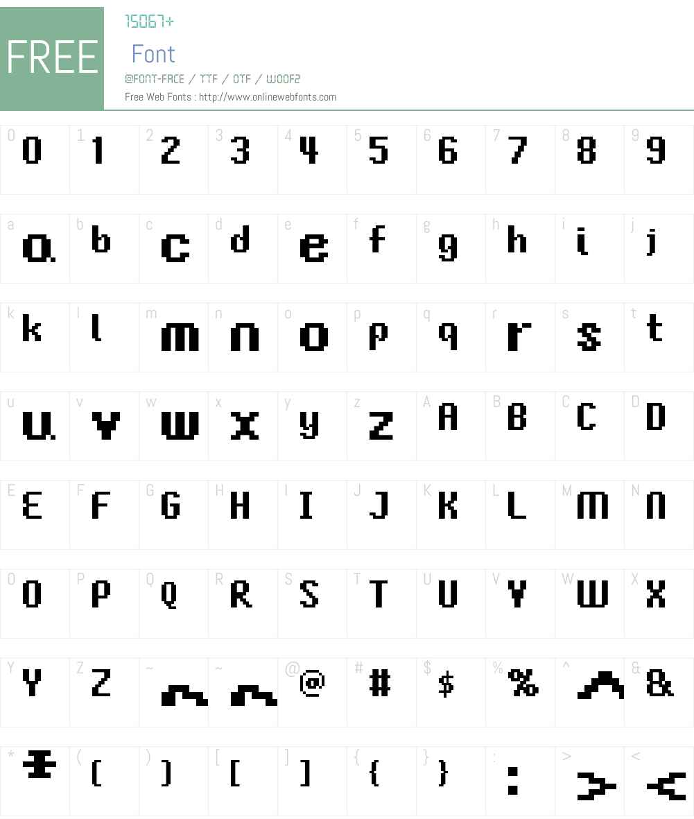 FFF Gardencity Bold Extended Font Screenshots