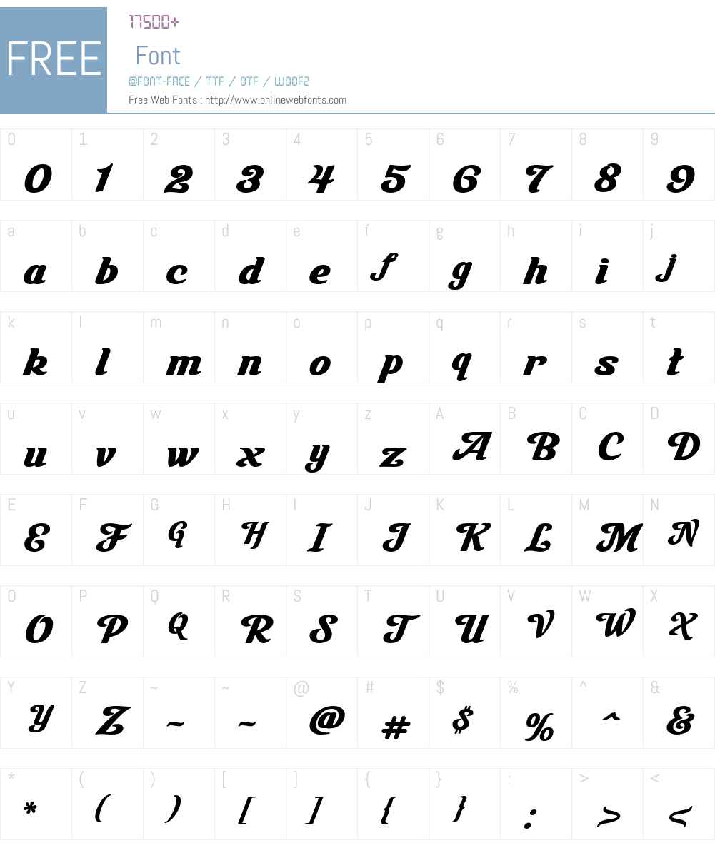 LHF Milkman Font Screenshots