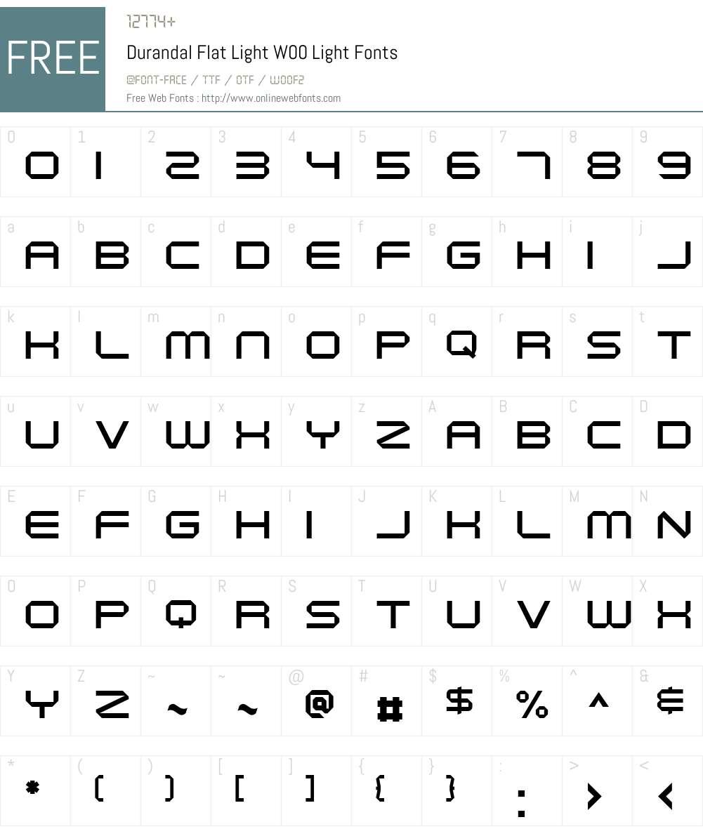 DurandalFlatLightW00-Light Font Screenshots