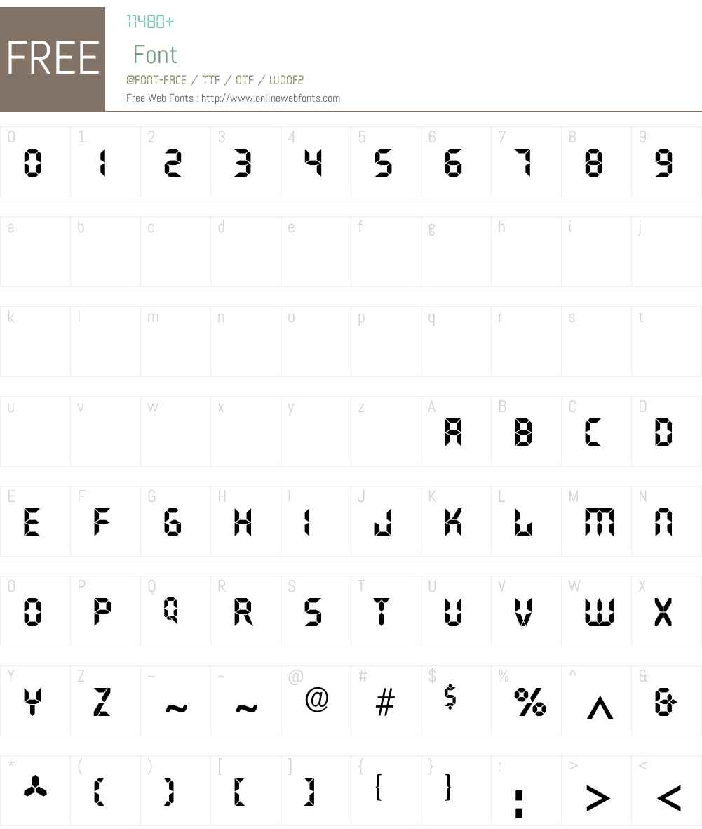 Quartz-Bold Font Screenshots