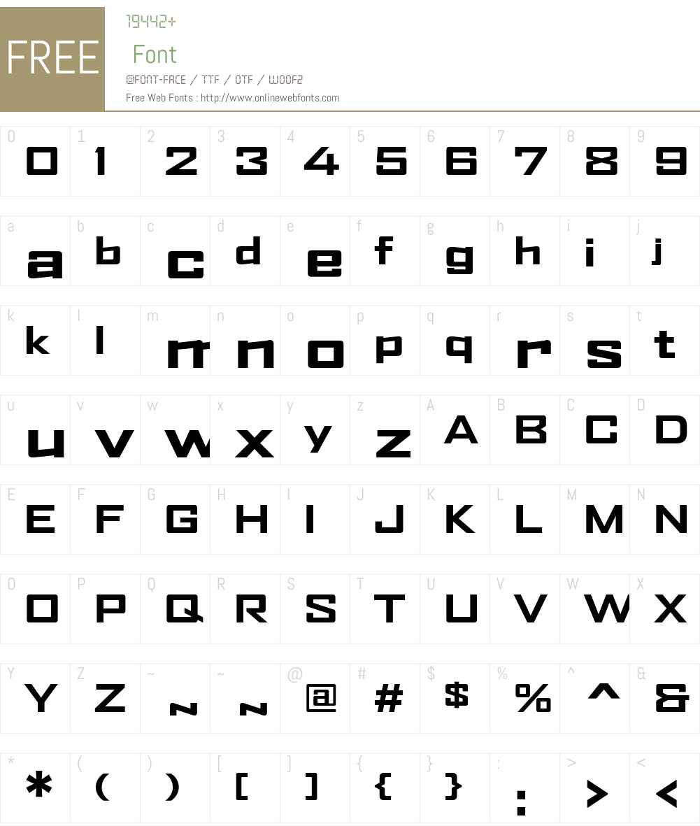 AgencyFB Font Screenshots