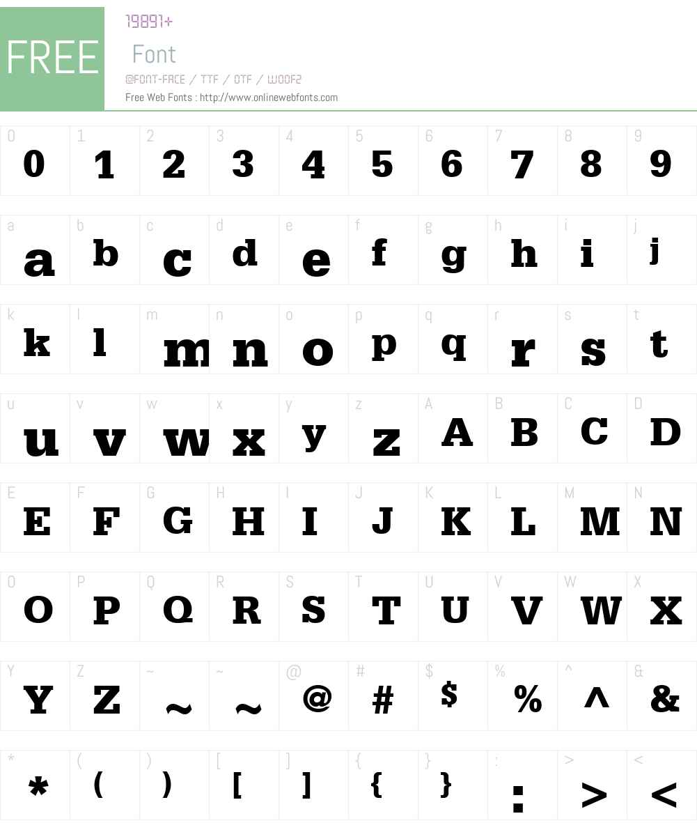 SerifaW01-75Black Font Screenshots