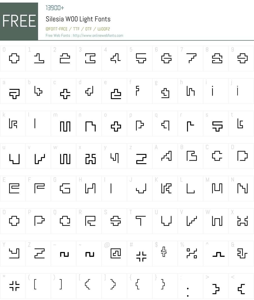 SilesiaW00-Light Font Screenshots