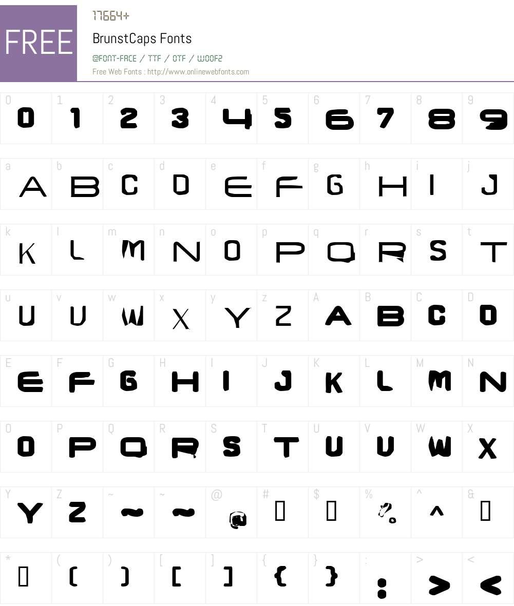 BrunstCaps Font Screenshots