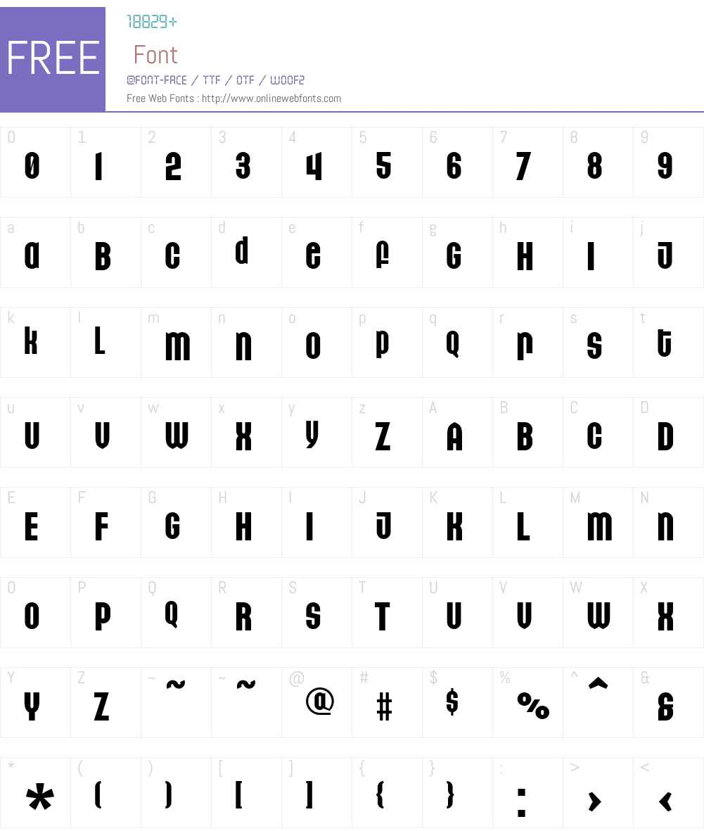 GetBackW00-Unicase Font Screenshots
