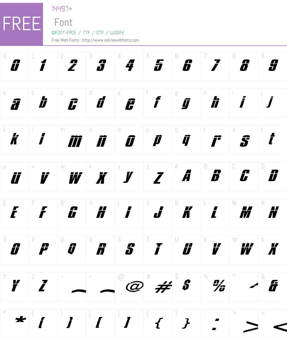 Impossible - 500 Font Screenshots
