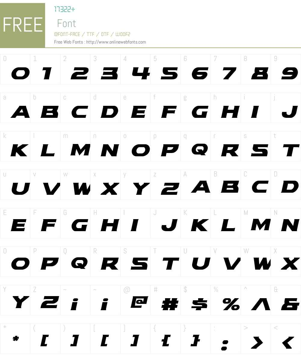 Modi Thorson Italic Font Screenshots