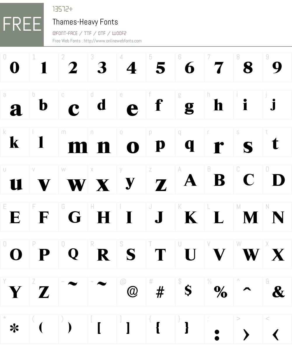 Thames-Heavy Font Screenshots