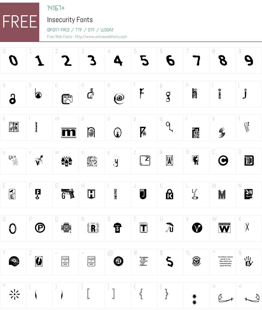 Insecurity Font Screenshots