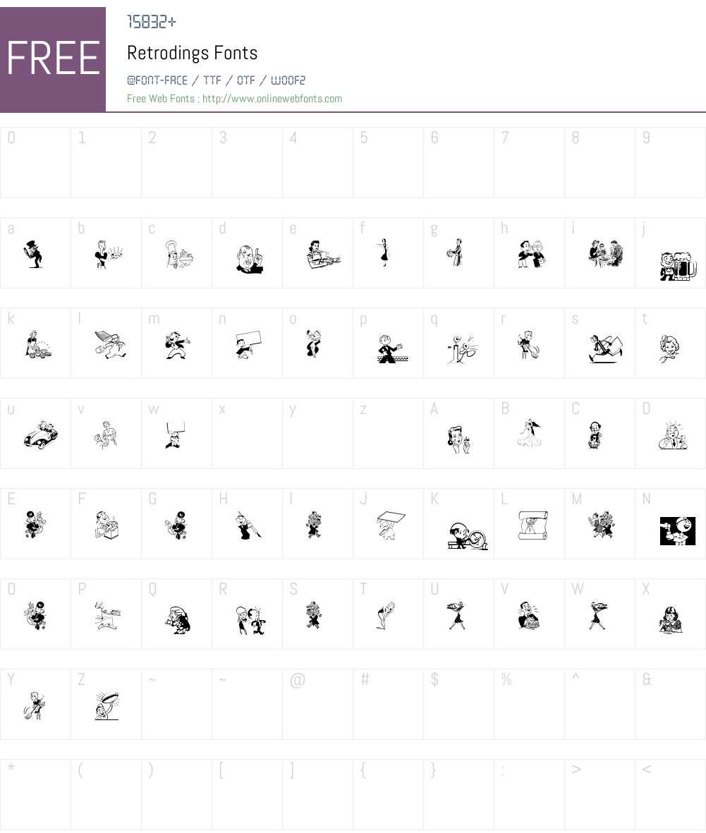 Retrodings Font Screenshots