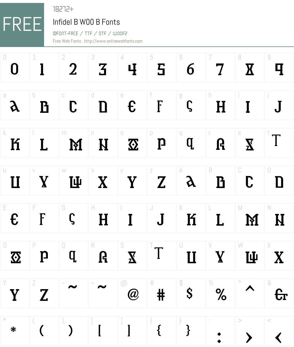 InfidelBW00-B Font Screenshots