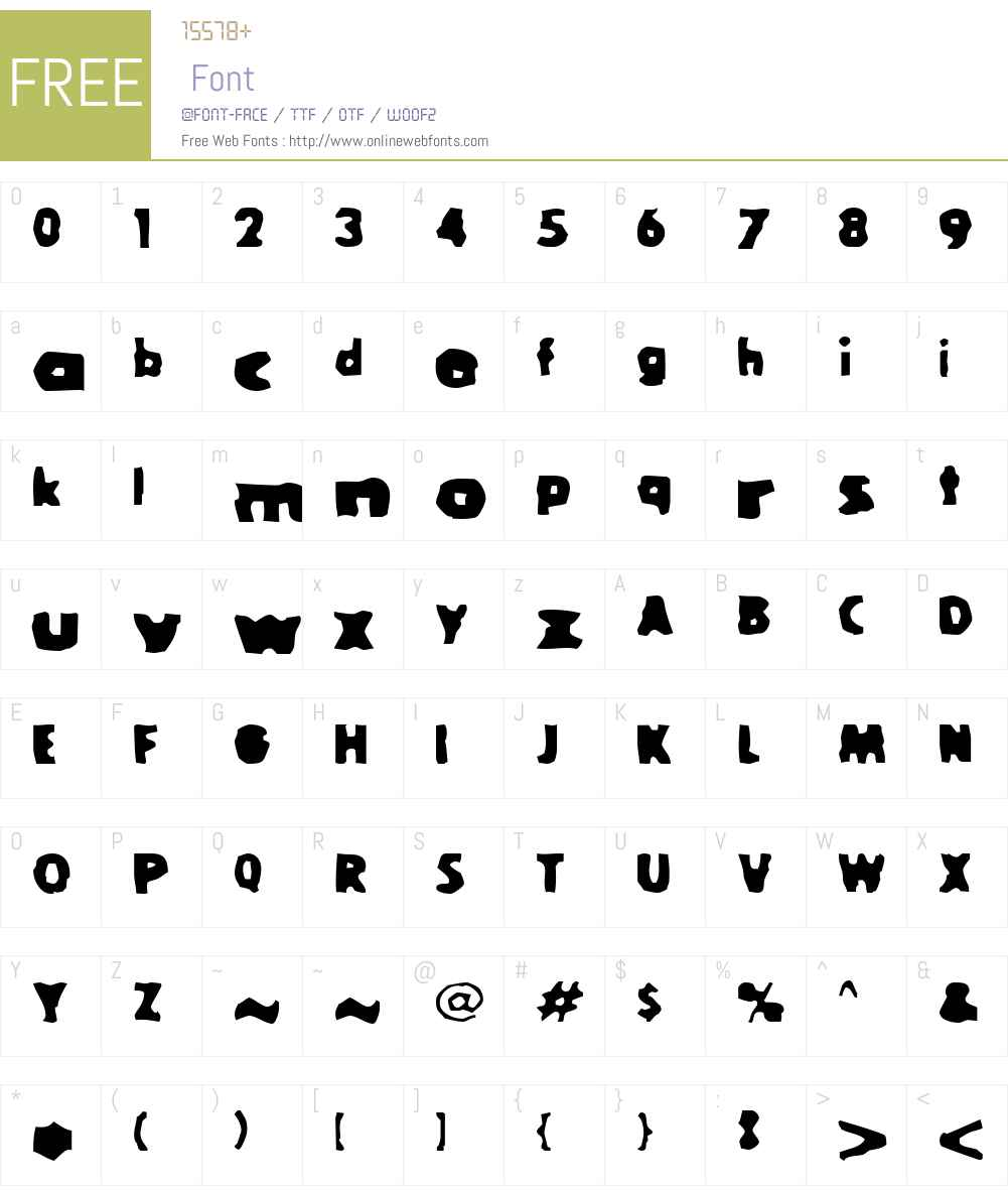 Goola Font Screenshots