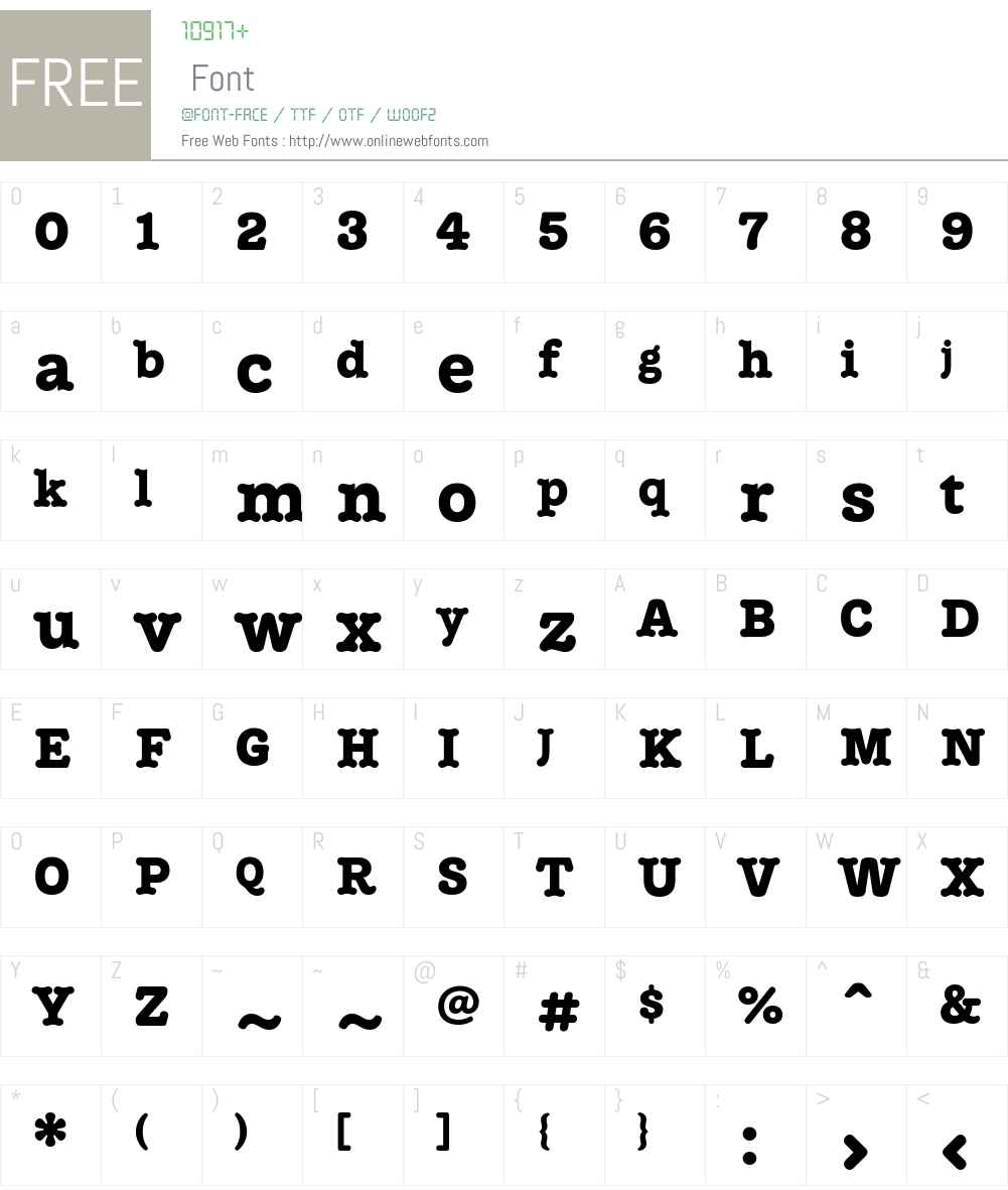 Treza Font Screenshots