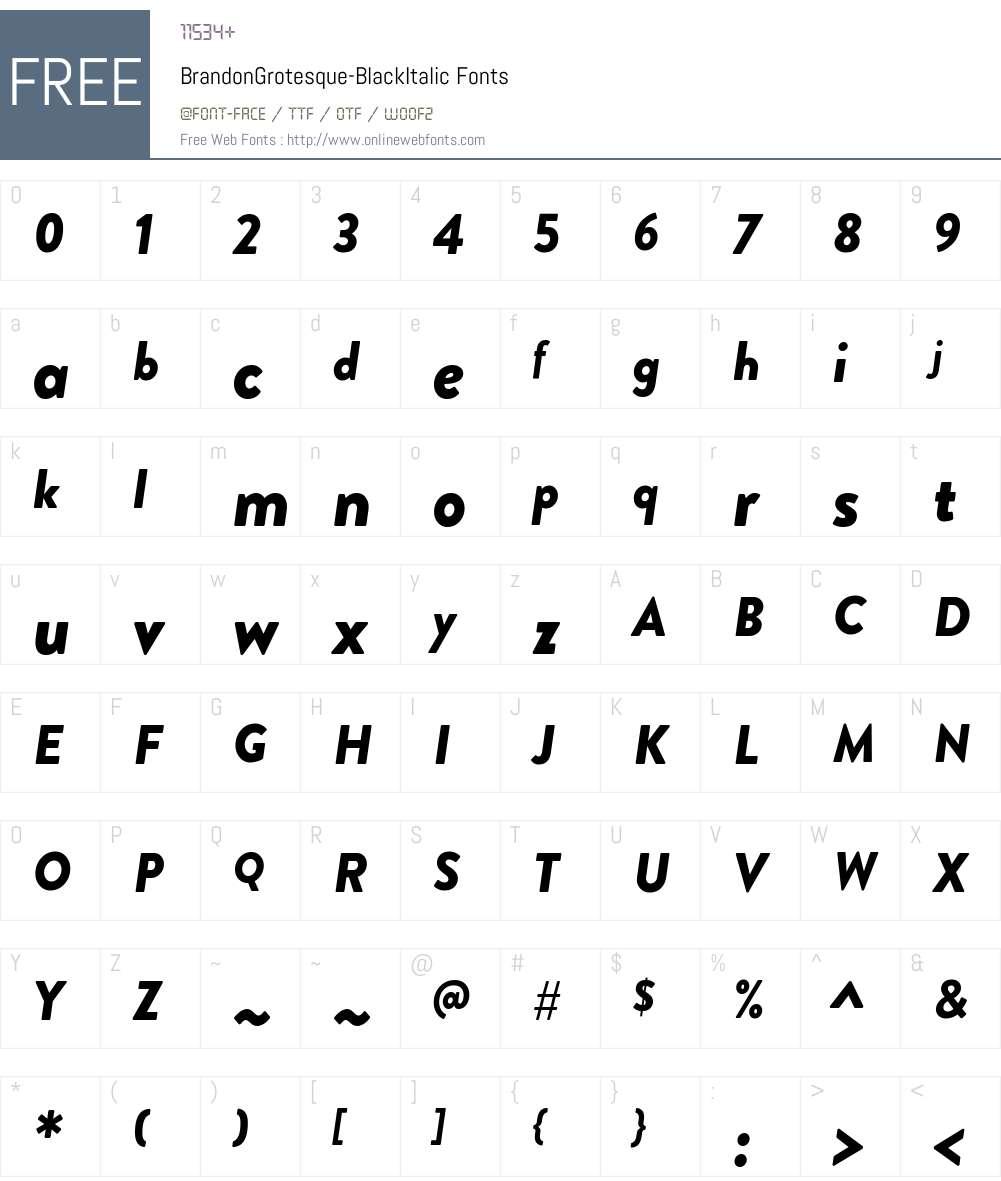 Brandon Grotesque Black Font Screenshots