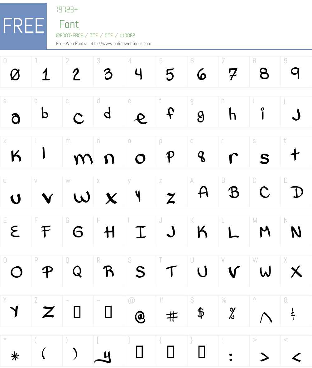 Bethany Style Letters Font Screenshots