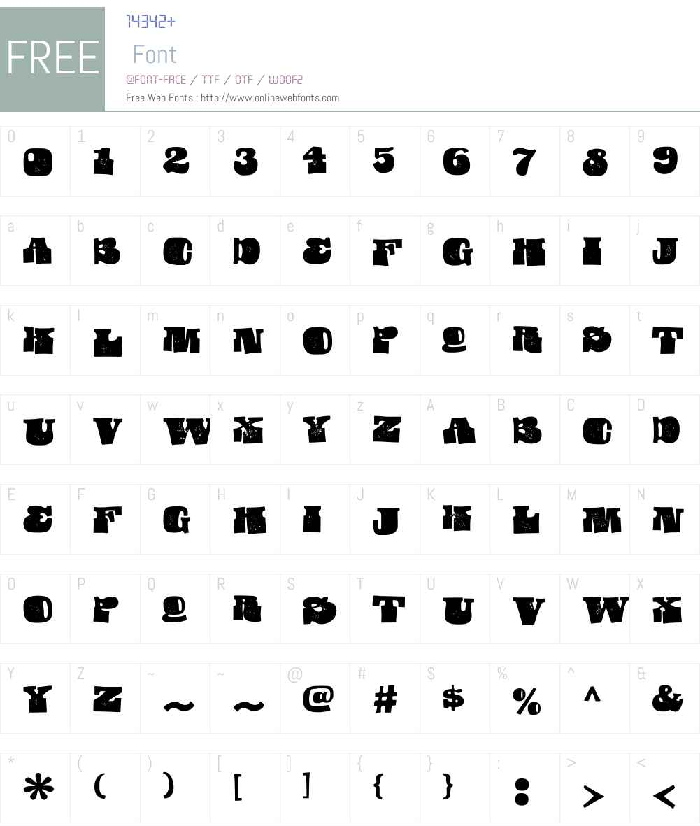 UsurpW00-Regular Font Screenshots