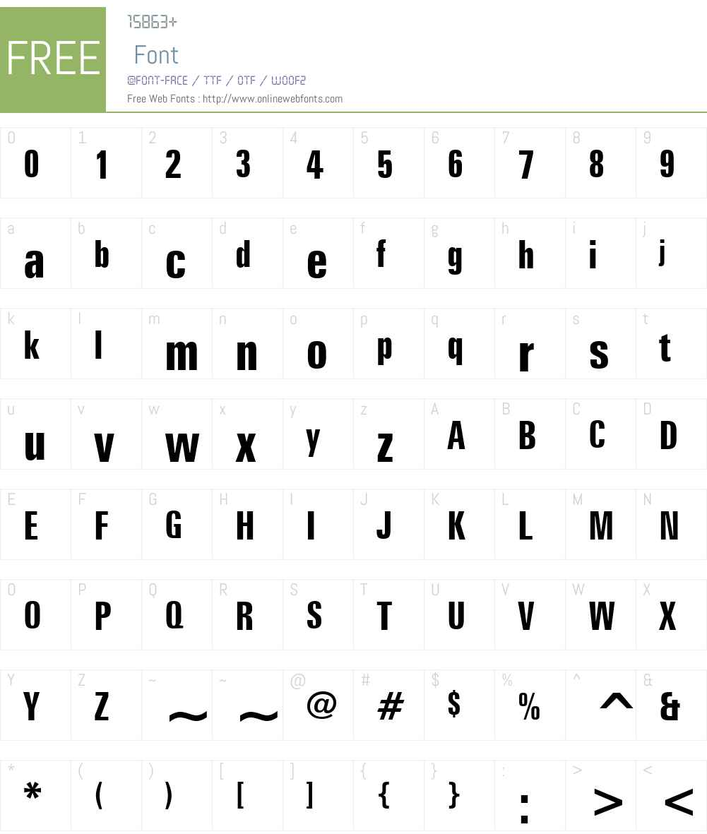 ZurichW01-BoldExtraCd Font Screenshots