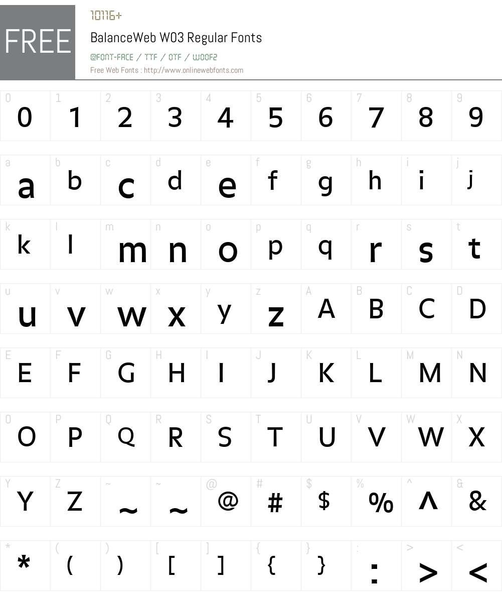 FF Balance Font Screenshots