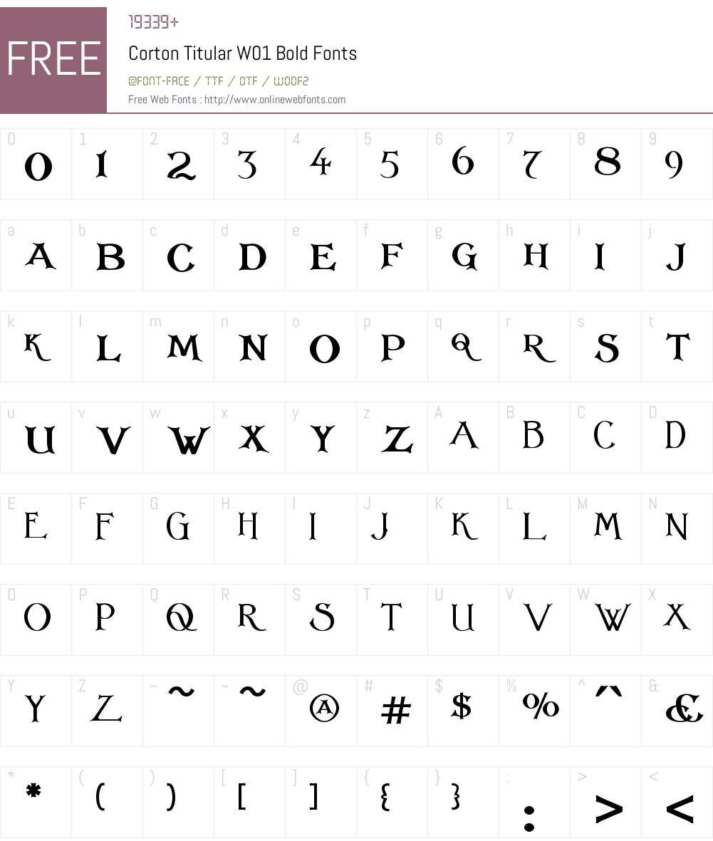CortonTitularW01-Bold Font Screenshots