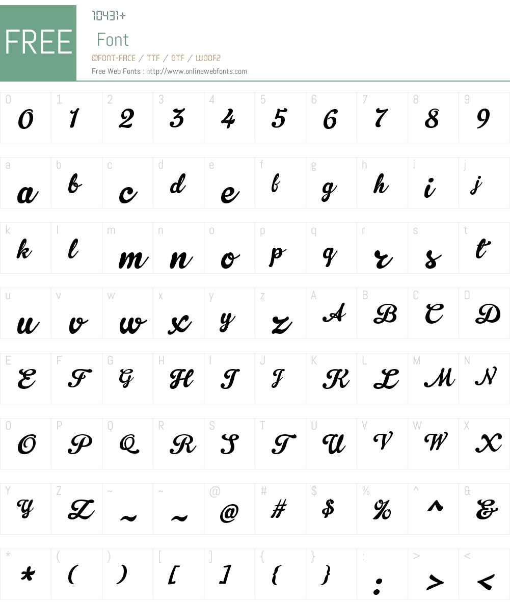 Gelato Script Font Screenshots