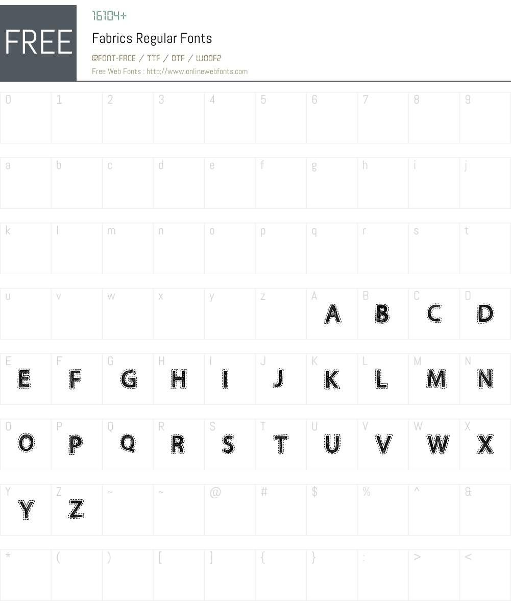 Fabrics Font Screenshots