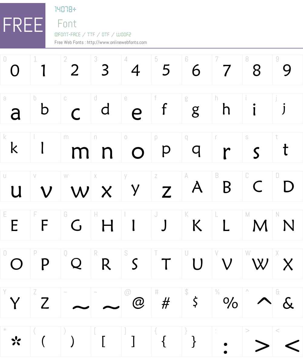 STXinwei Font Screenshots