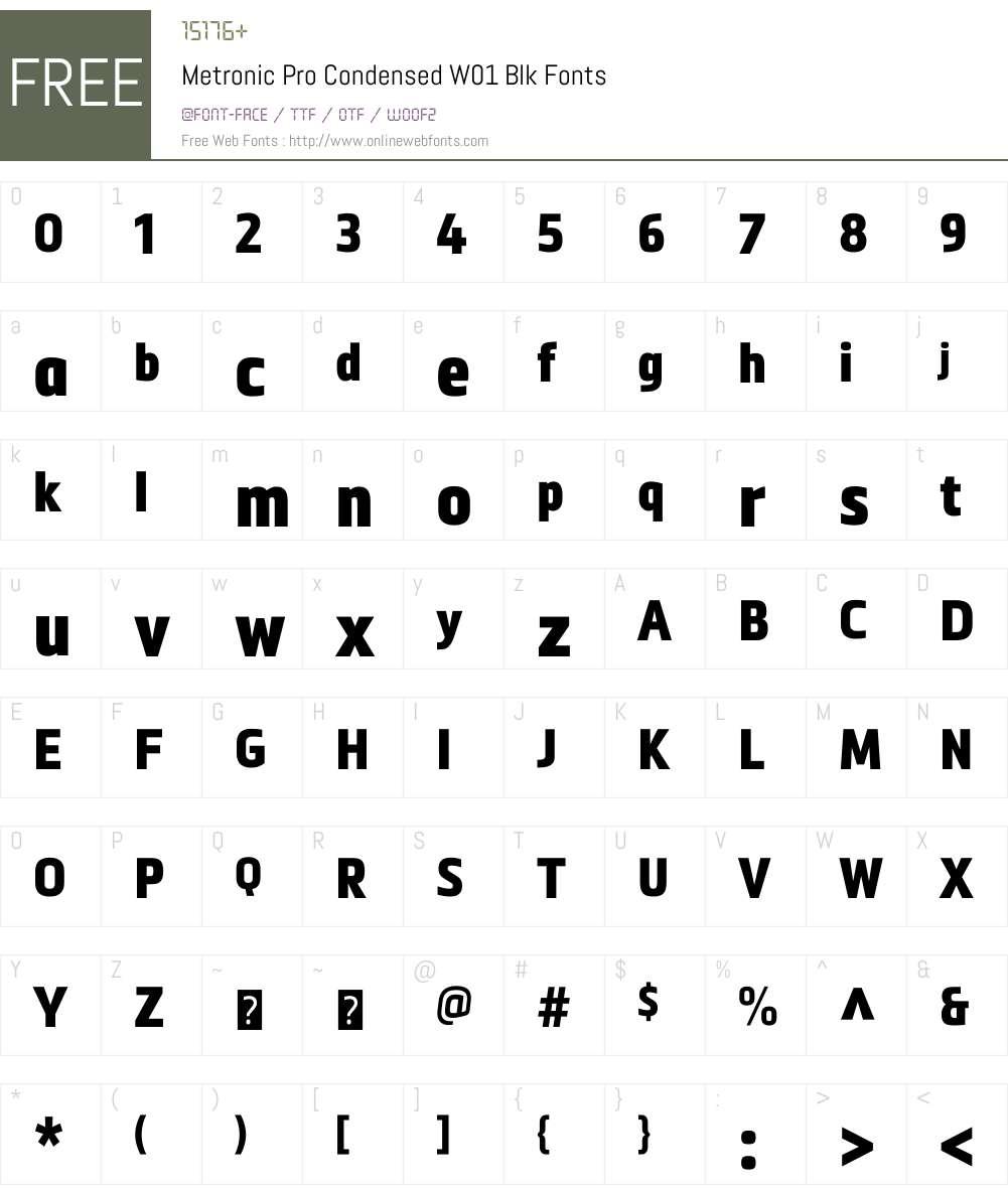 MetronicProCondensedW01-Blk Font Screenshots
