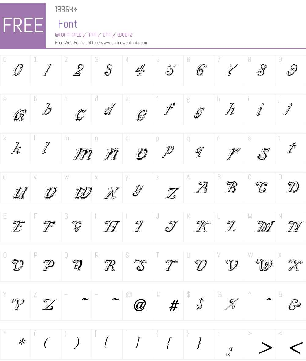 SilverPlate Font Screenshots