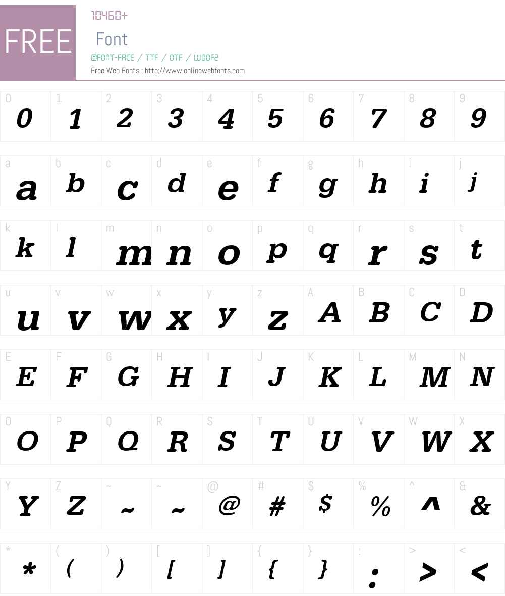URWTypewriterTMed Font Screenshots