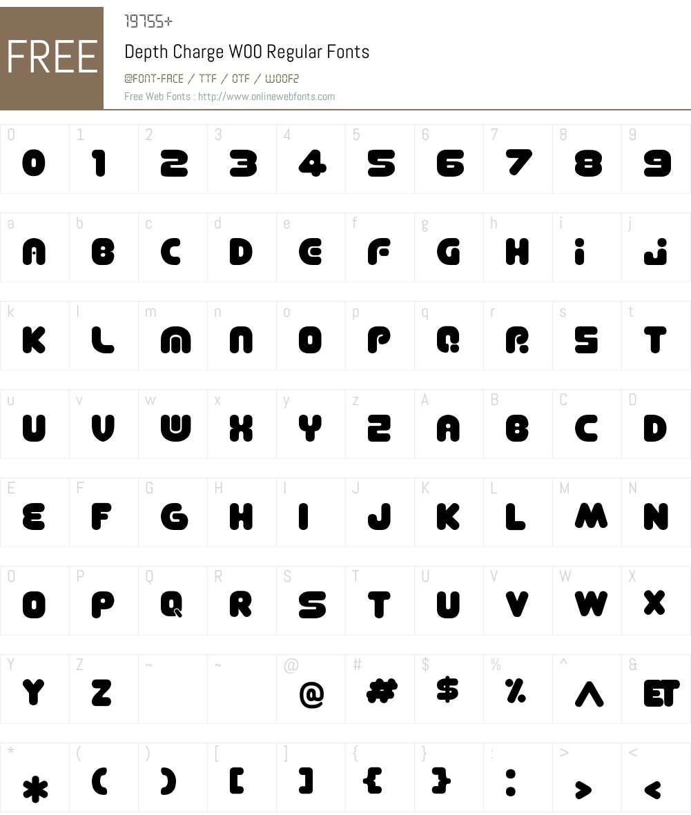 Depth Charge Font Screenshots