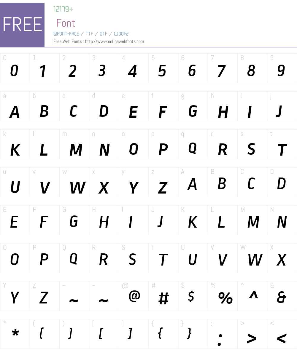 RopaSansSCW01-MediumItalic Font Screenshots