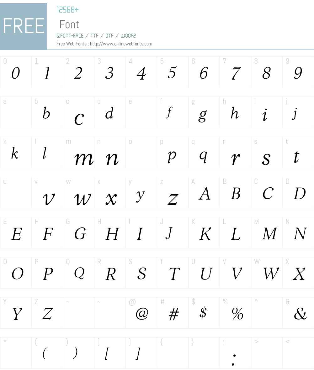 LombaBookItalic Font Screenshots