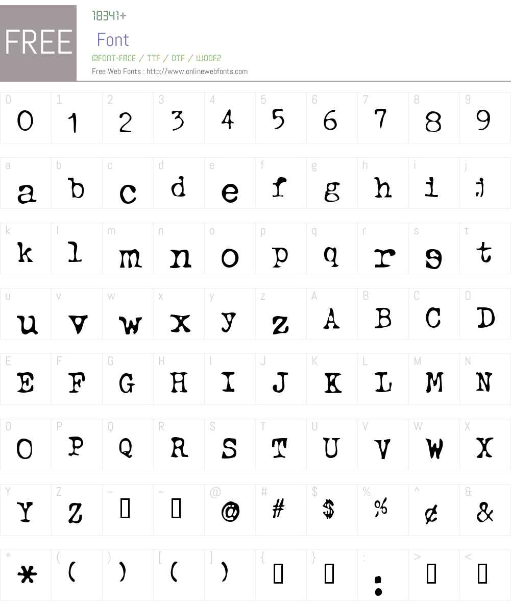 Typewriter Font Screenshots