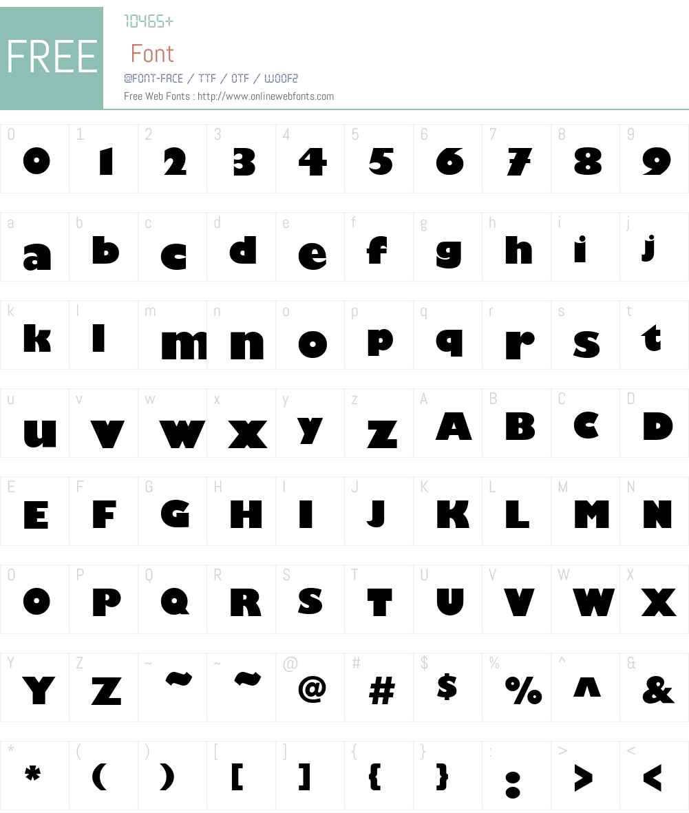 Chantilly-Display Font Screenshots