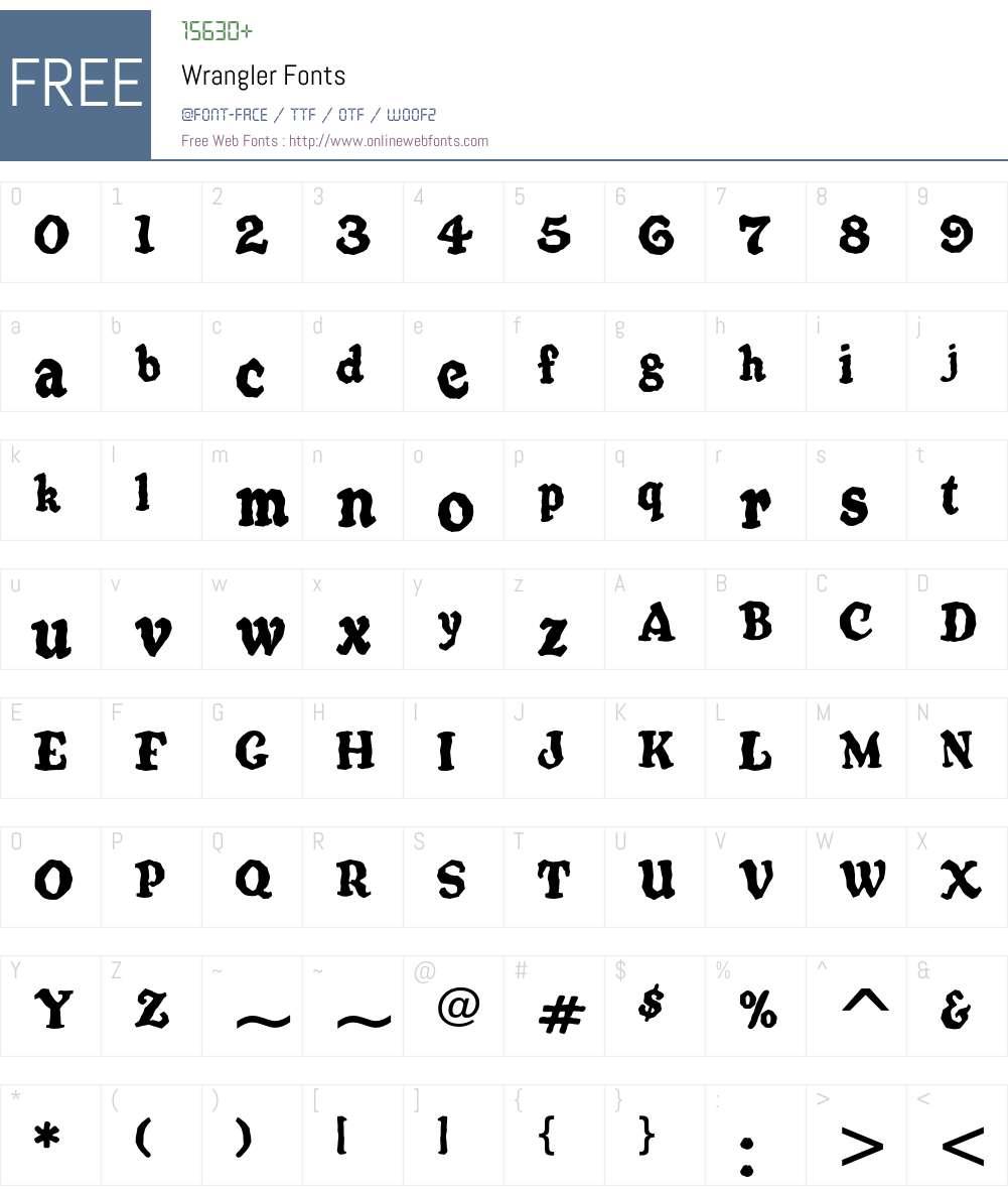 Wrangler Font Screenshots
