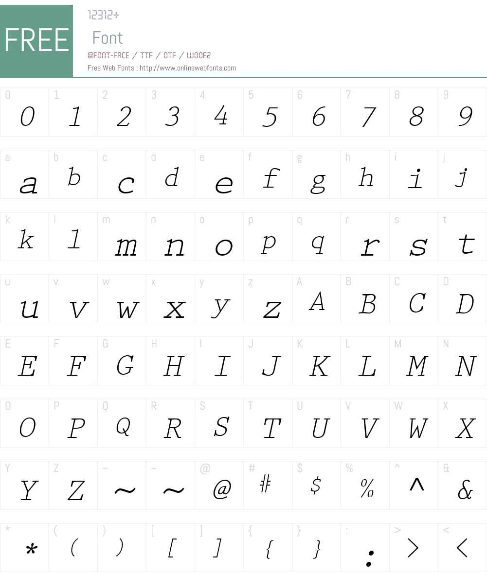 Keyboard Elite SSi Font Screenshots