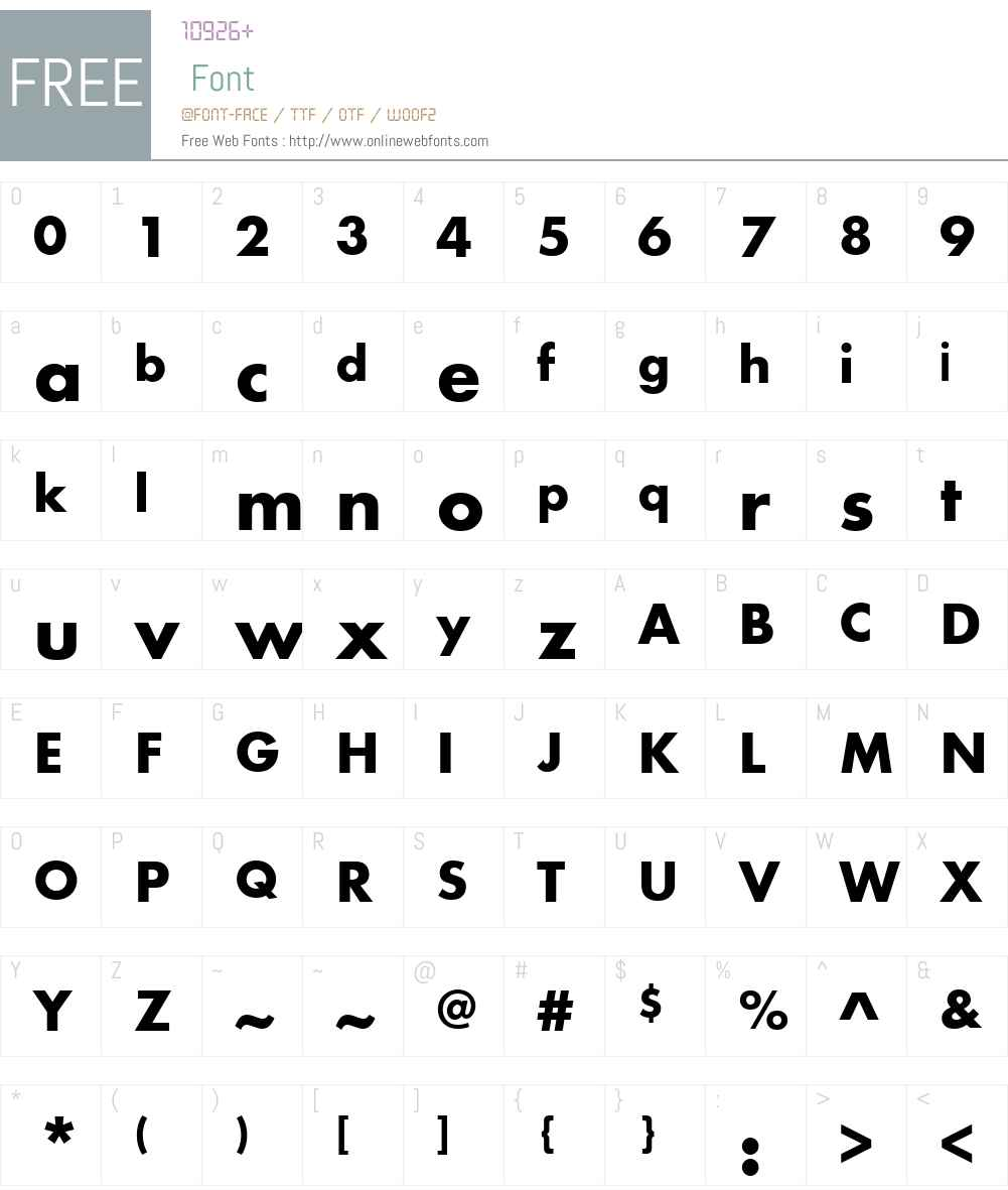 FuturaPTW01-Bold Font Screenshots