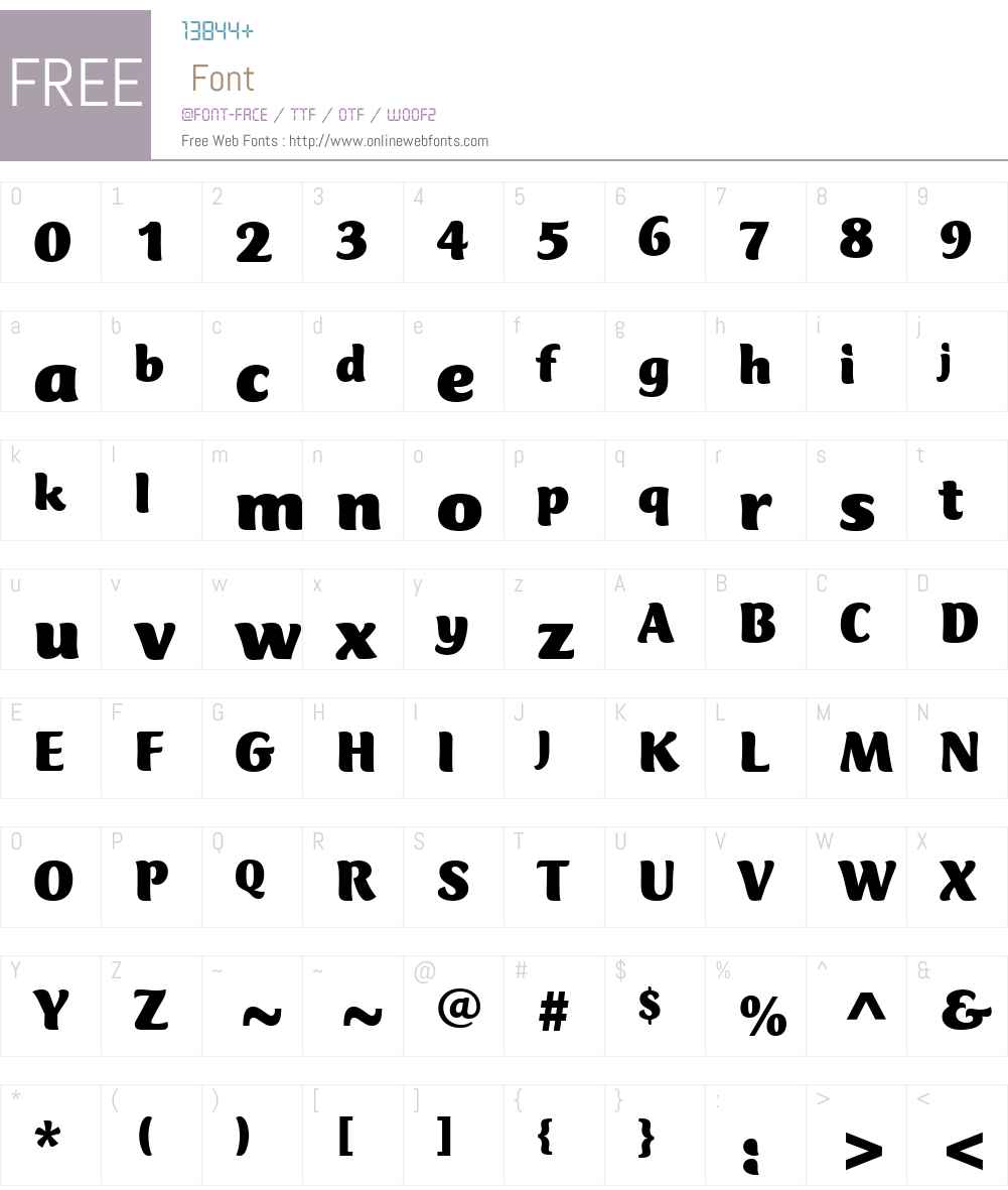 ClubTypeW01-Black Font Screenshots