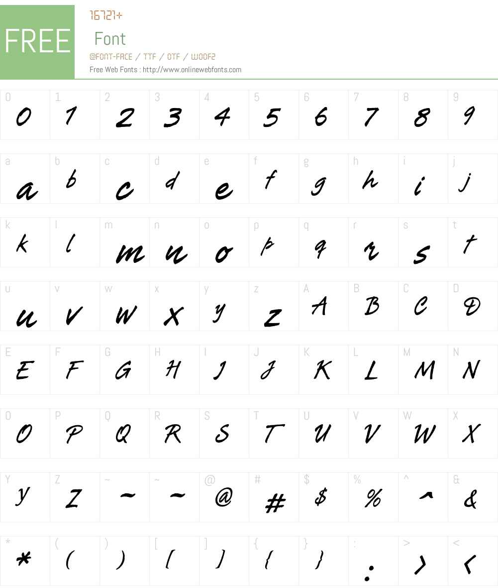 Tiza Font Screenshots