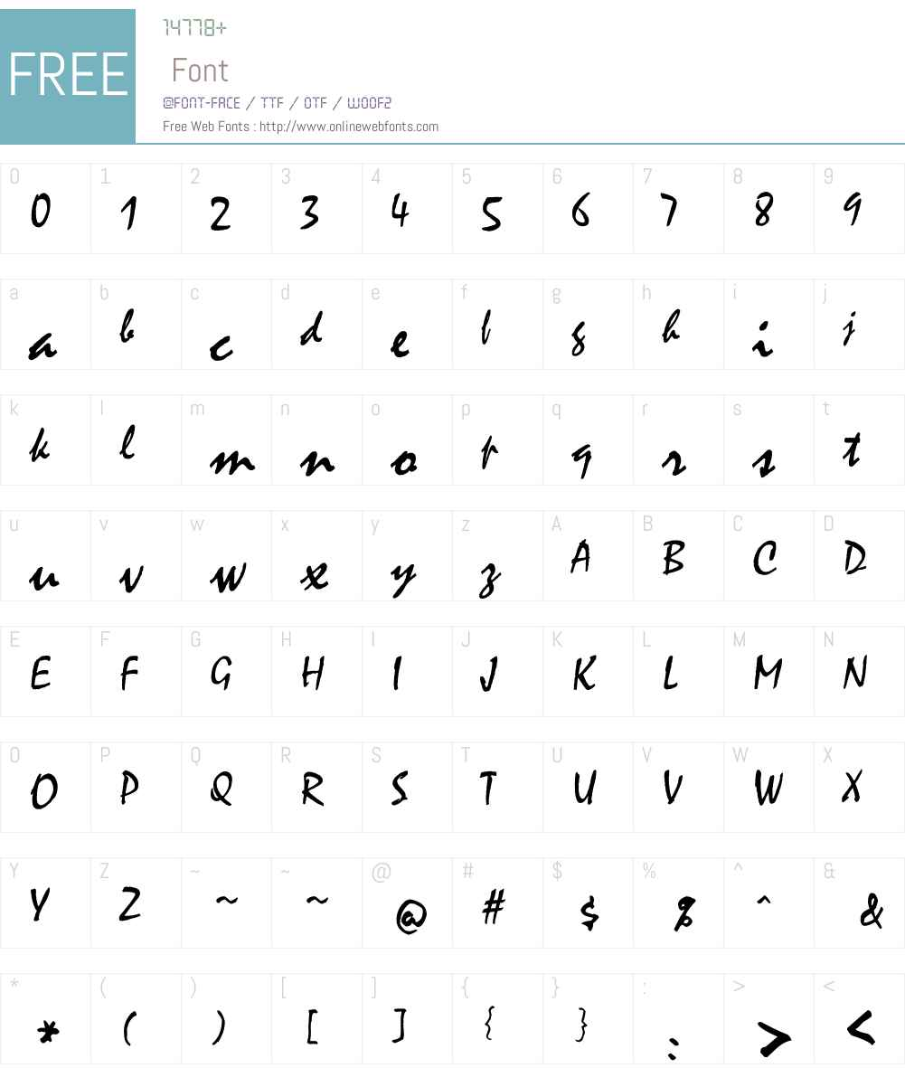zI Font Screenshots