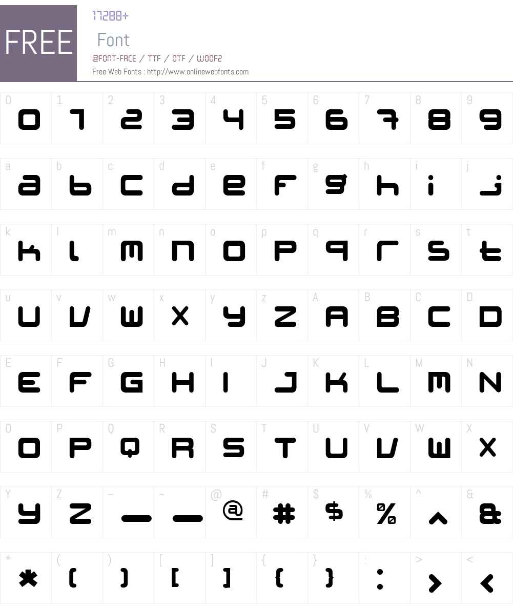 Patinio iAgency Rounded Font Screenshots