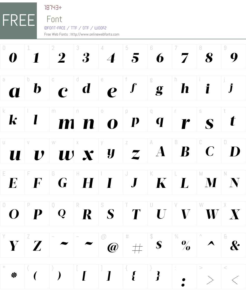 ActaDisplayW01-XBoldItalic Font Screenshots