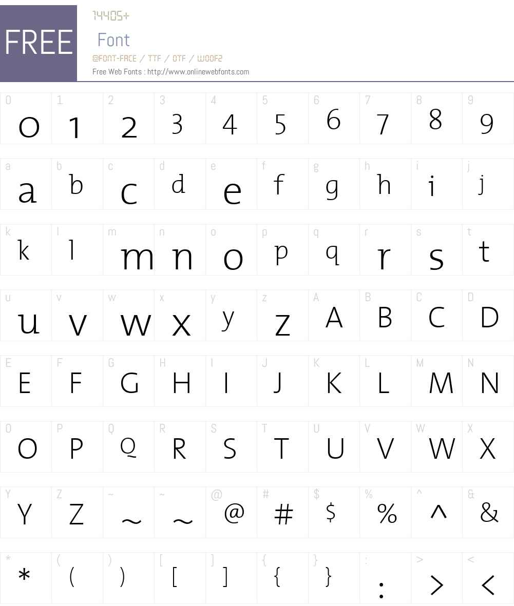 TheMixExtraLight Font Screenshots
